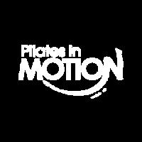 Pilates in Motion White Logo